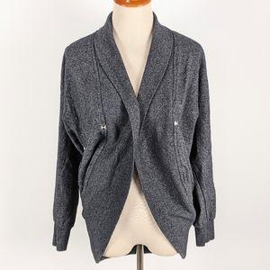 Reitmans Gray Open Front Cardigan Size XS